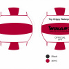 Afbeelding van Winart waterpolobal pupil rood/wit mt.3