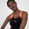 Afbeelding van Speedo dames badpak Placem lineback black/red