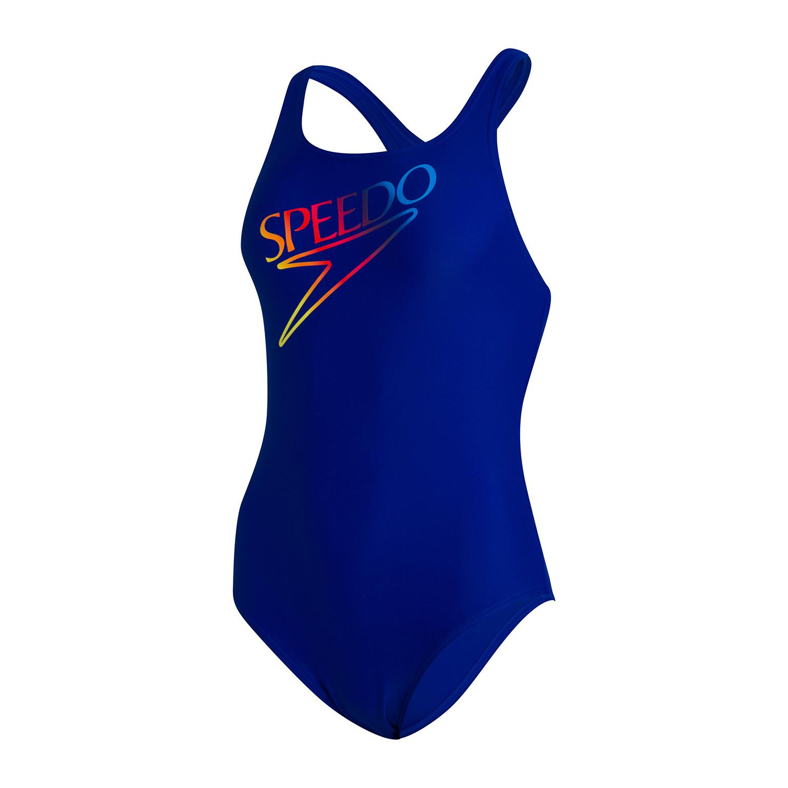 Speedo damesbadpak Printed Medalist blue-pink