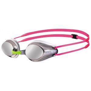 Arena zwembril junior Tracks Mirror silver-white-fuchsia