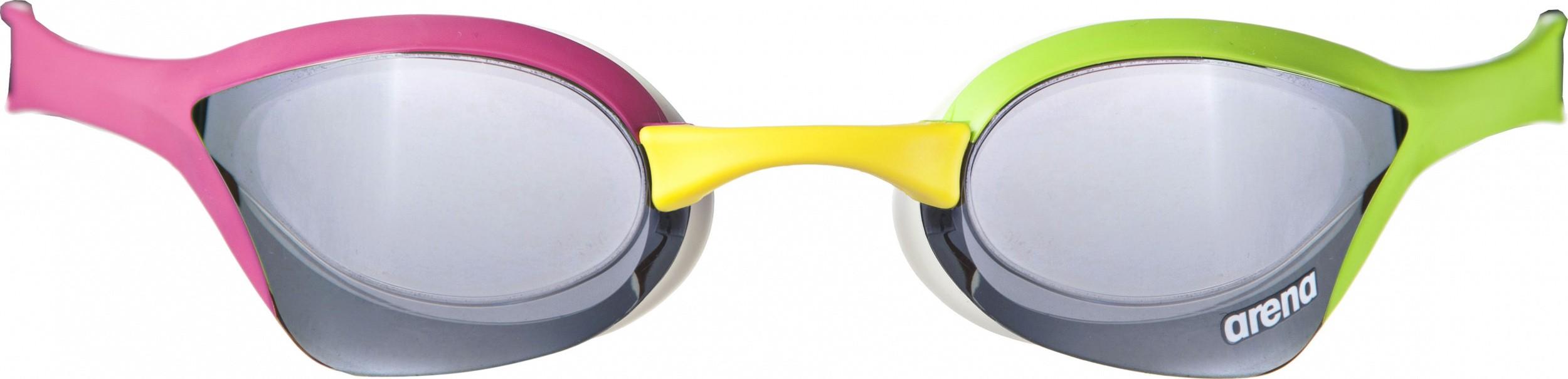 Arena zwembril Cobra Ultra Mirror silver-green-pink