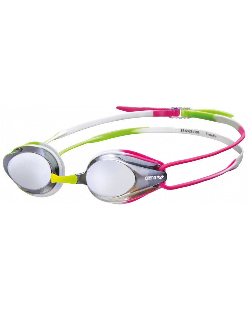 Arena zwembril tracks mirror zilver groen roze