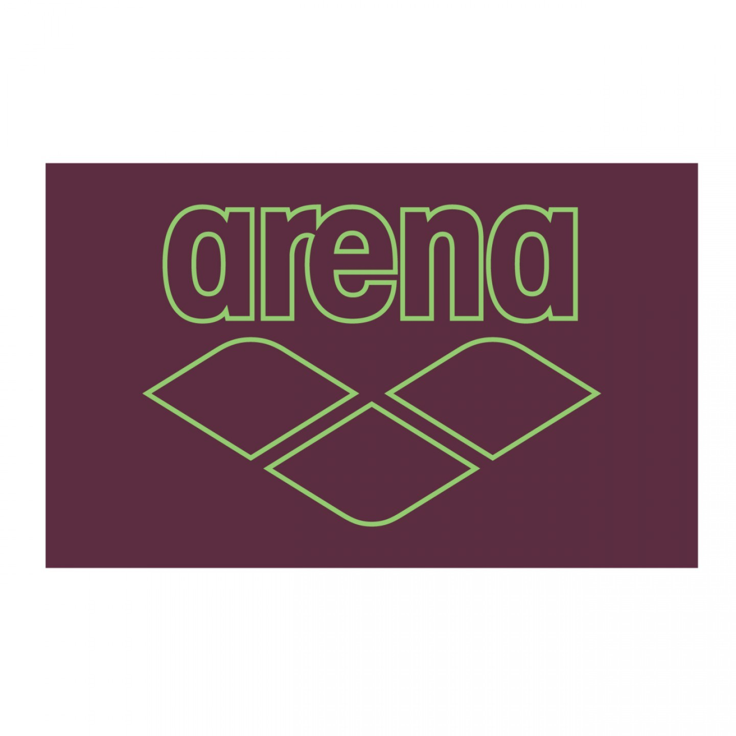 Arena Pool Smart Towel red-wine-shiny-green