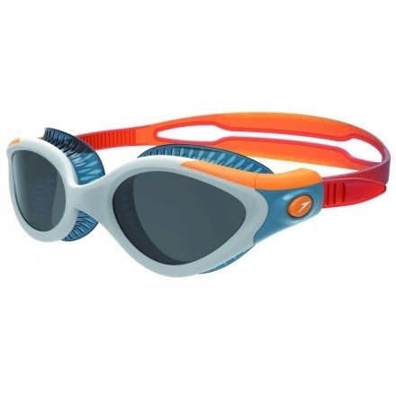 Speedo zwembril Futura Biofuse dames triathlon orange/grey