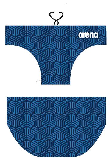 Arena waterpolobroek Kikko navy multi