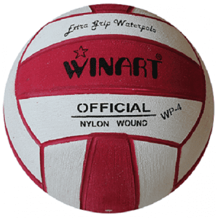 Winart waterpolobal pupil rood/wit mt.3