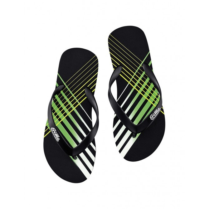Erima Beach-teenslipper black/green/white