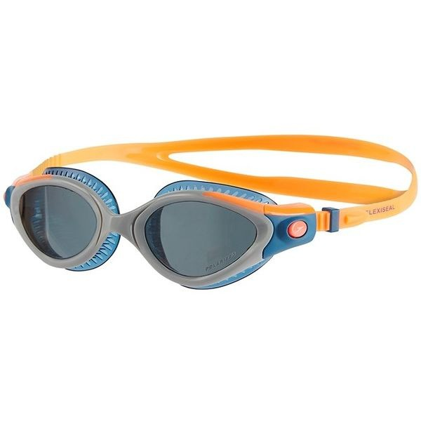 Speedo zwembril Futura Biofuse flexiseal dames triathlon orange/grey