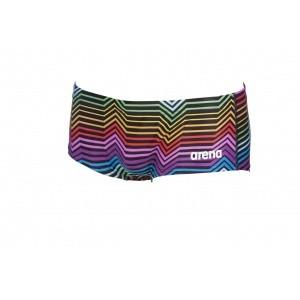 Arena Stripes Low Waist Short black-multi