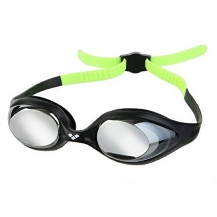 Arena junior zwembril Spider mirror blak-silver-green