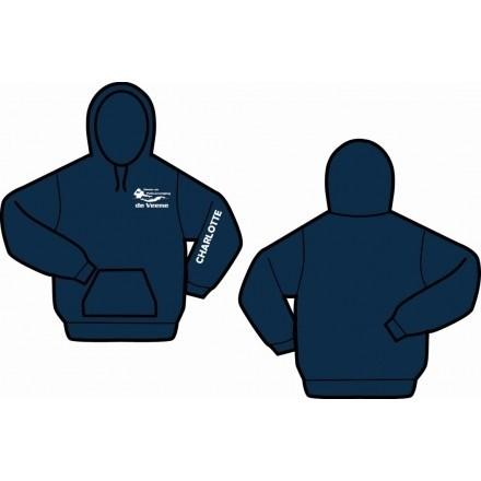 Gildan hooded navy Z&PV de Veene