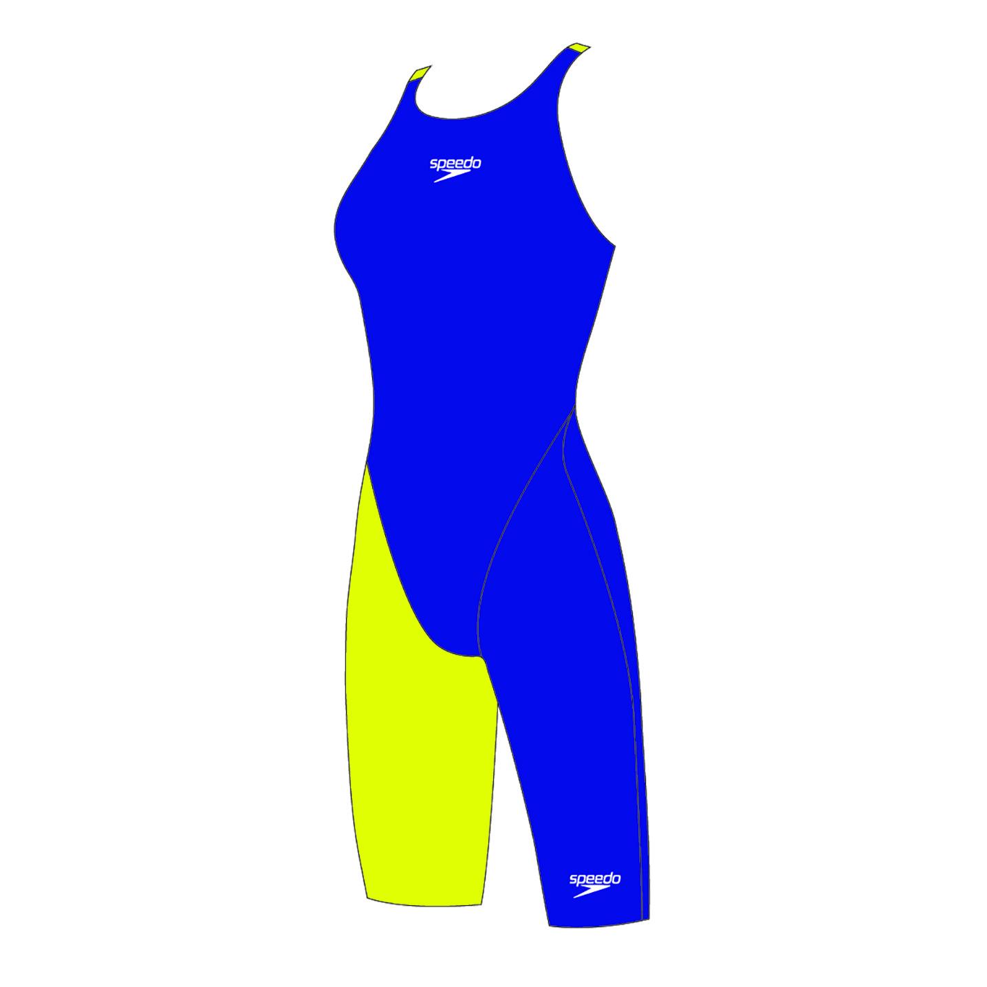 Speedo meisjes wedstrijdbadpak Fastskin JR OB Violet/fluo yellow