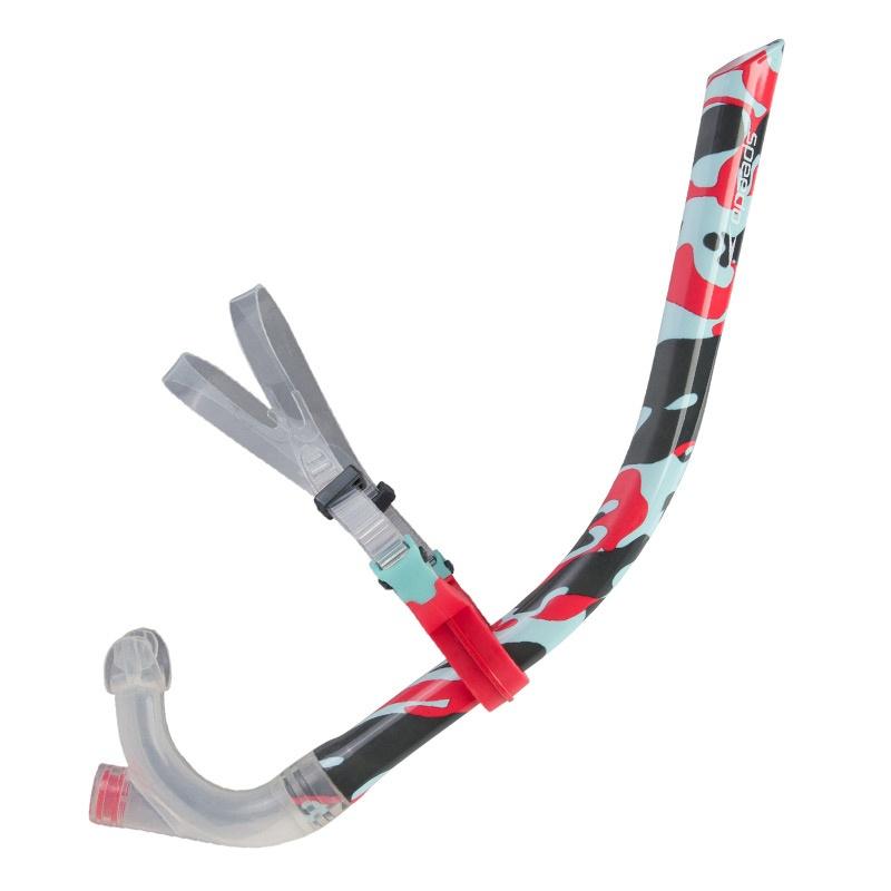 Speedo Centre Snorkel Red/Blue/Grey