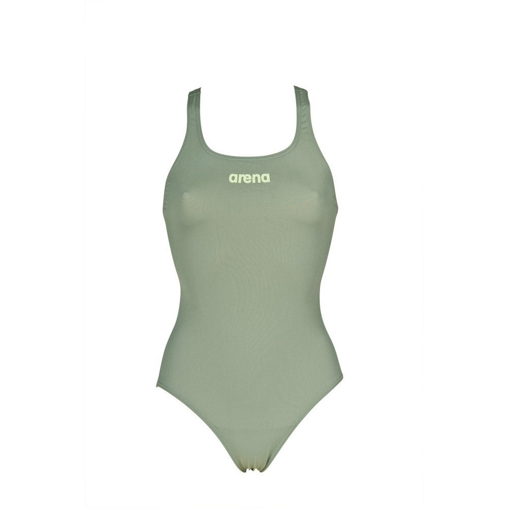 ARENA DAMESBADPAK SOLID SWIM PRO ARMY-SHINY GREEN