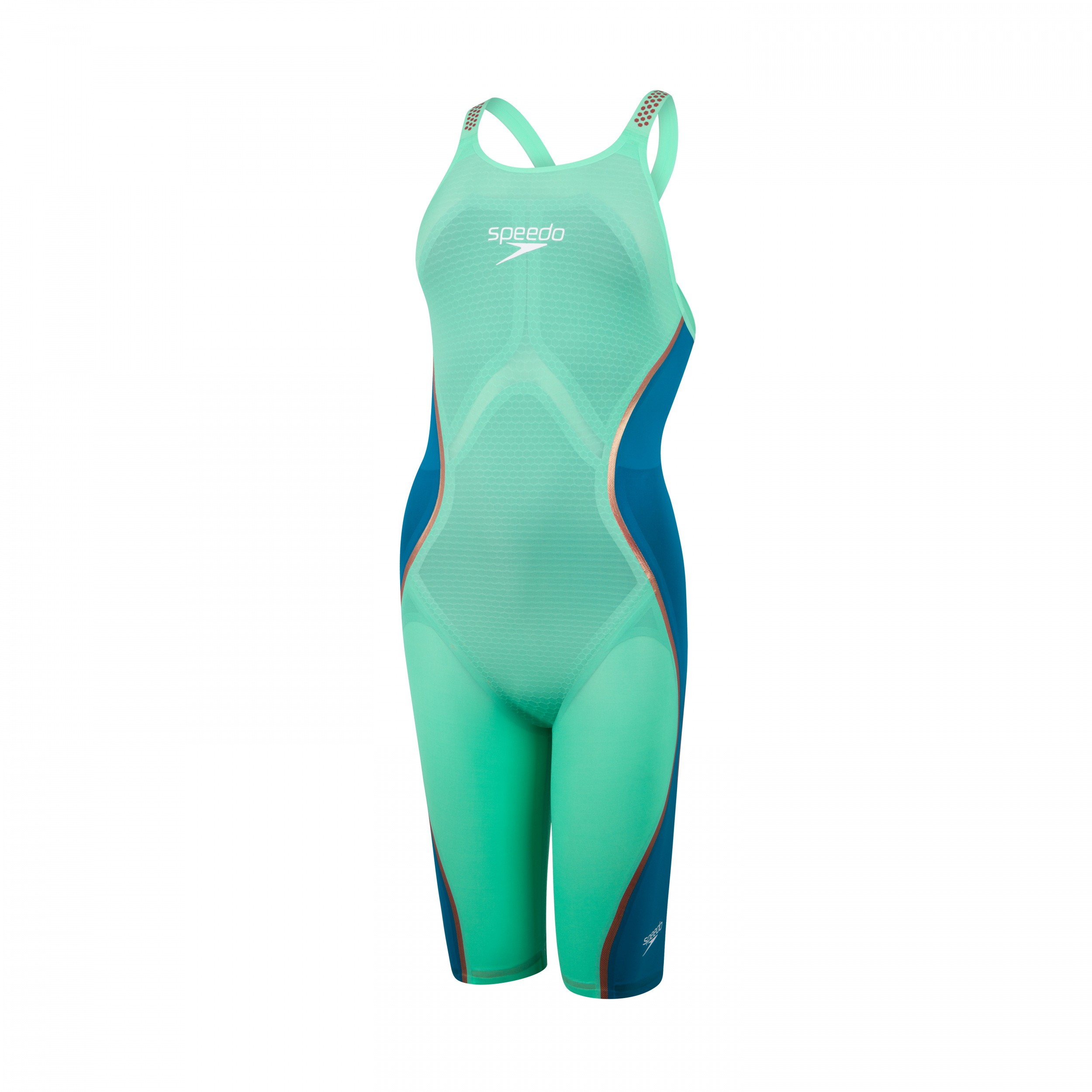 Speedo wedstrijdbadpak LZR Pure Intent OB green/blue