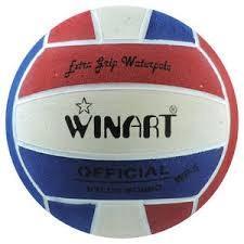 Winart waterpolobal rood/wit/blauw mt. 4 en 5