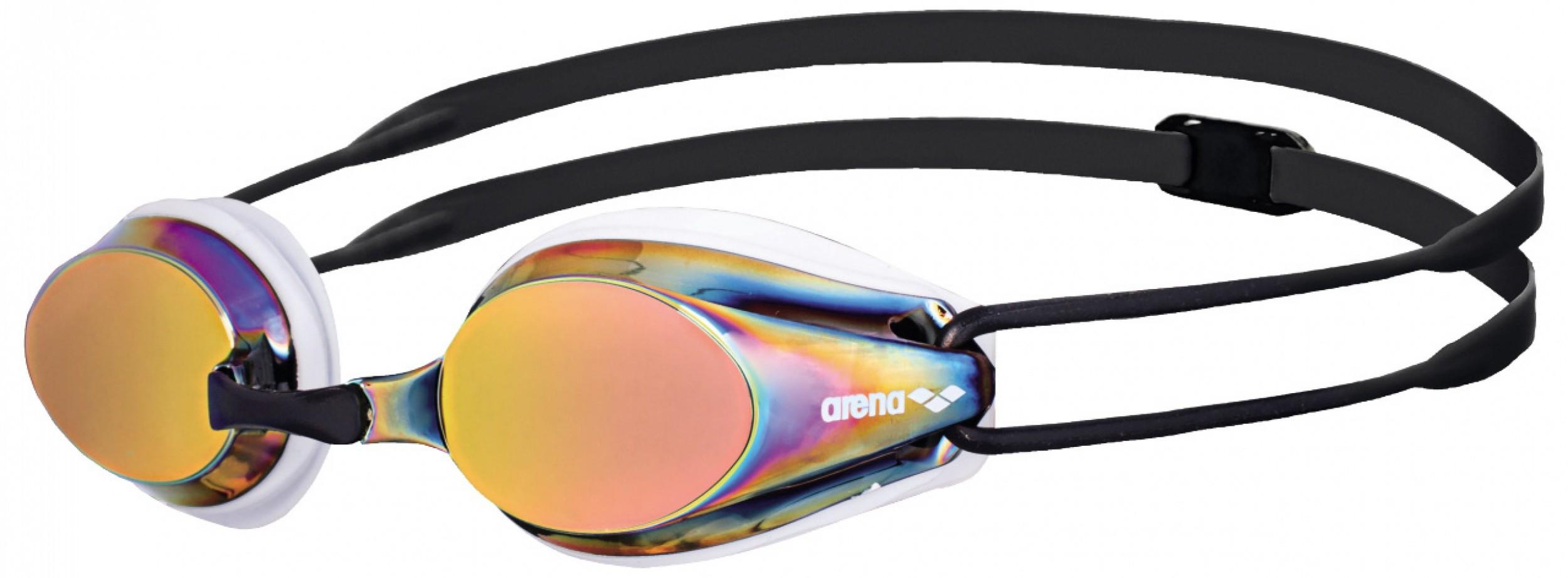 Arena zwembril Tracks Mirror white-redkopper-black