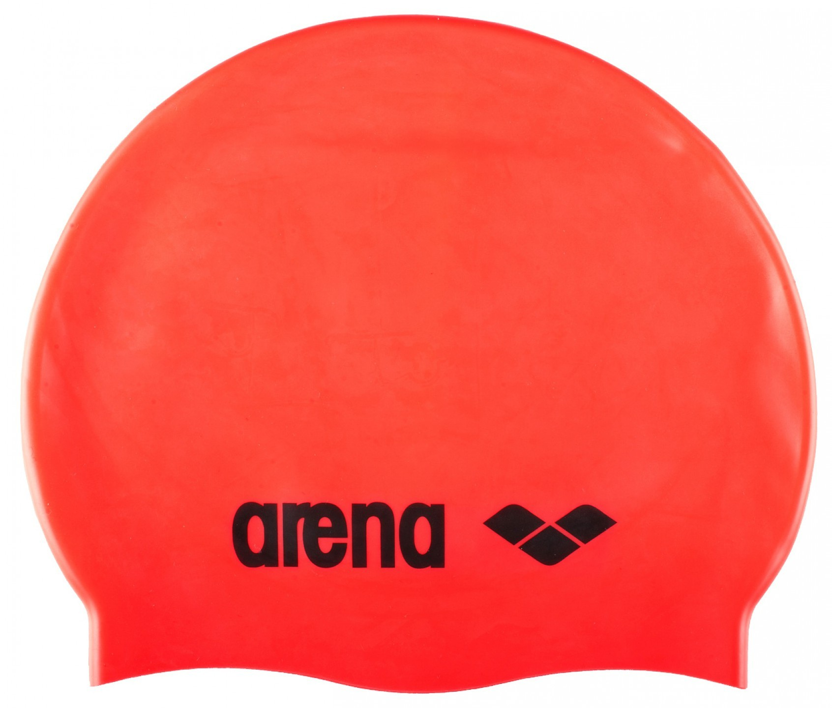 Arena badmuts classic silicone fluo-red, black