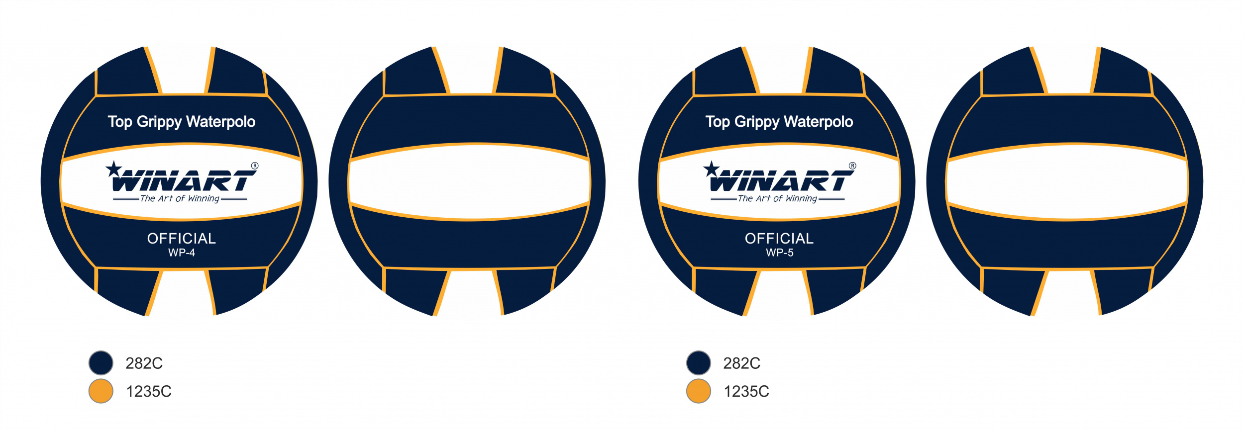 Winart Waterpolobal pupil navy/ whit/navy mt. 3