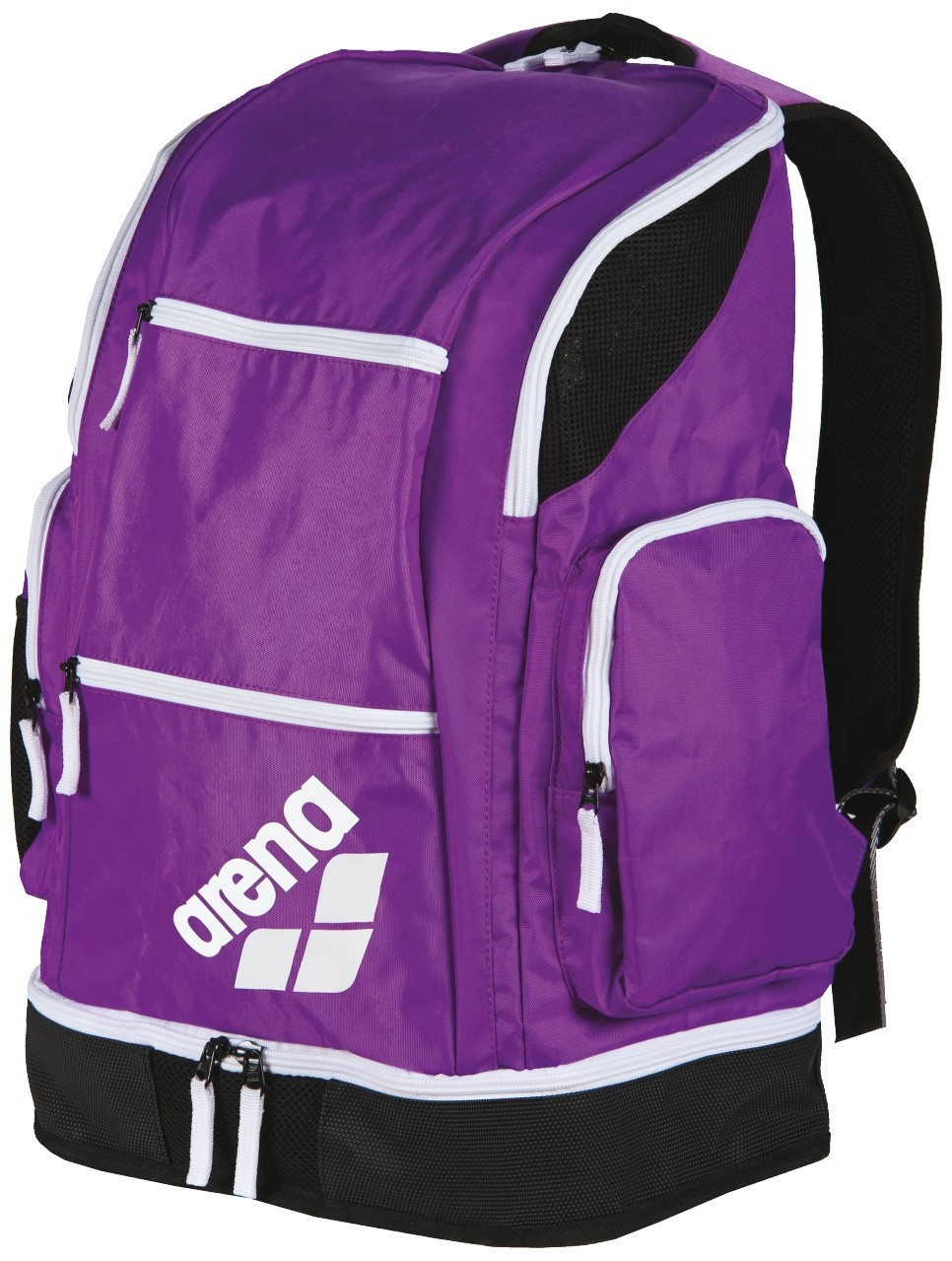 Arena Spiky 2 Large Backpack purple-white-fluo green