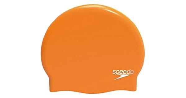 Speedo Plain Moulded silicone cap oranje