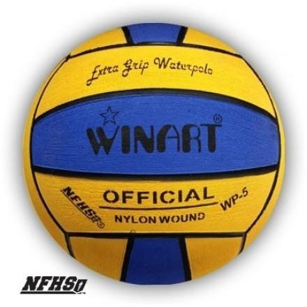 Winart Waterpolobal blauw/geel mt. 5