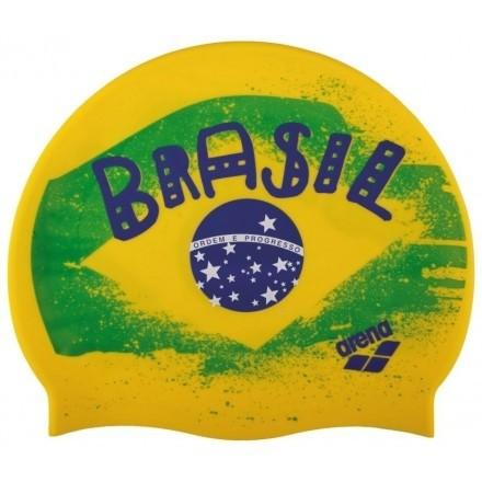 Arena Siliconen badmuts Print 2 Flag Brasil