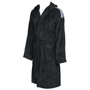 Arena badjas soft robe black-white