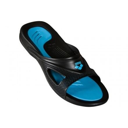 Arena badslipper Hydrofit Zwart/Blauw