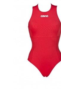 Arena waterpolobadpak Solid red