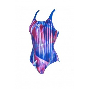 Arena damesbadpak Shading Prism Swim pro back blue multi