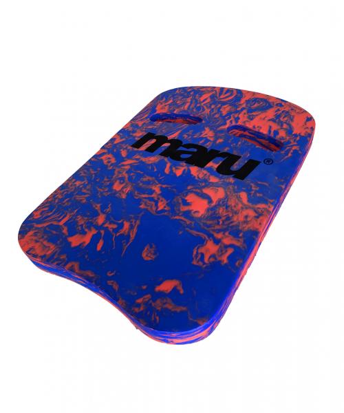 Maru Two Grip Swirl kickboard Blue/Red