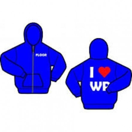 Gildan hooded sweater Met rits Met opdruk waterpolo