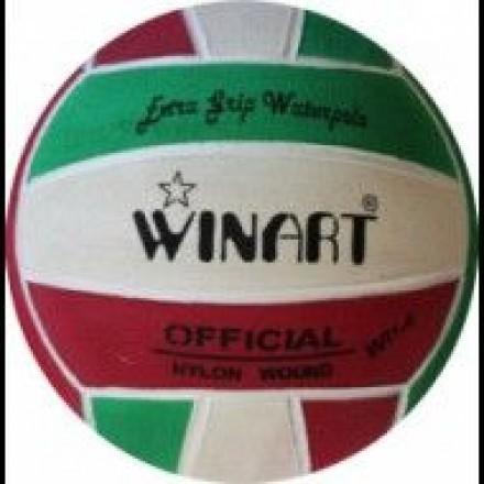 Winart Waterpolobal groen/rood/wit mt. 5