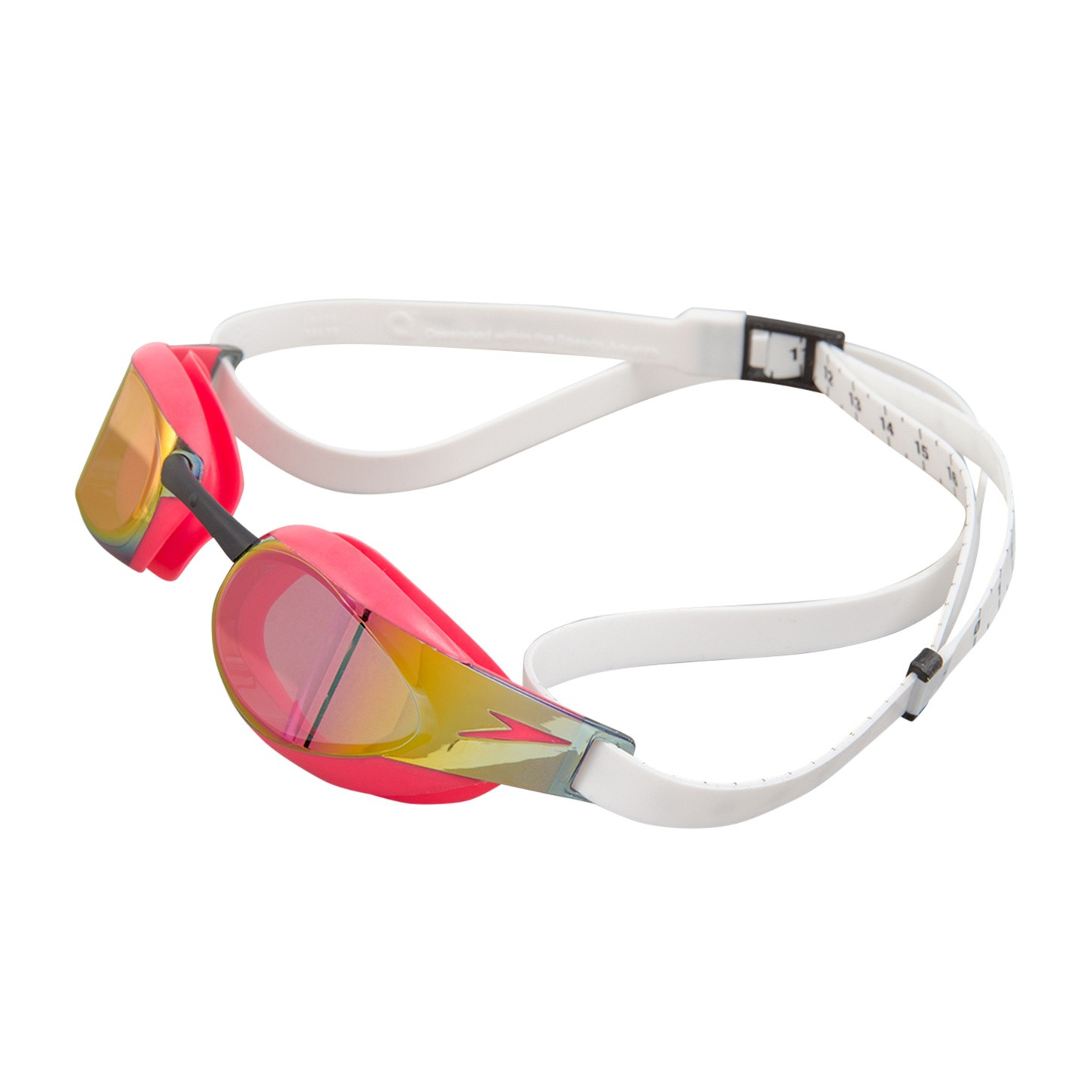 Speedo Zwembril Fastskin Elite mirror white-red
