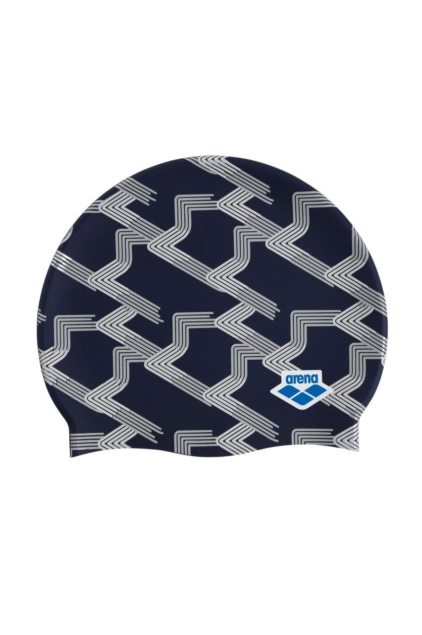 Arena badmuts Icons Team Stripe assorti blauw print