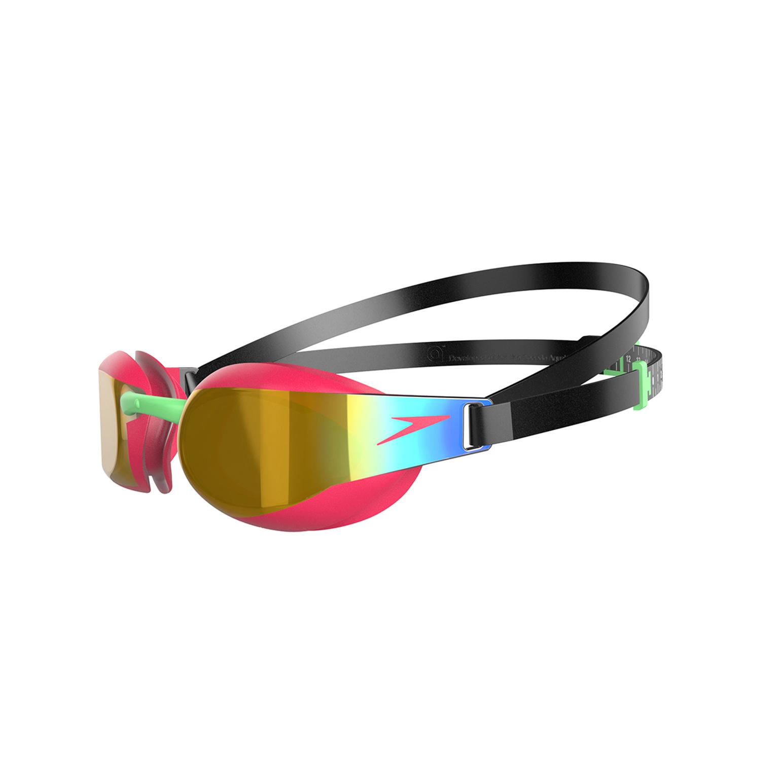 Speedo zwembril junior Elite mirror red-gold
