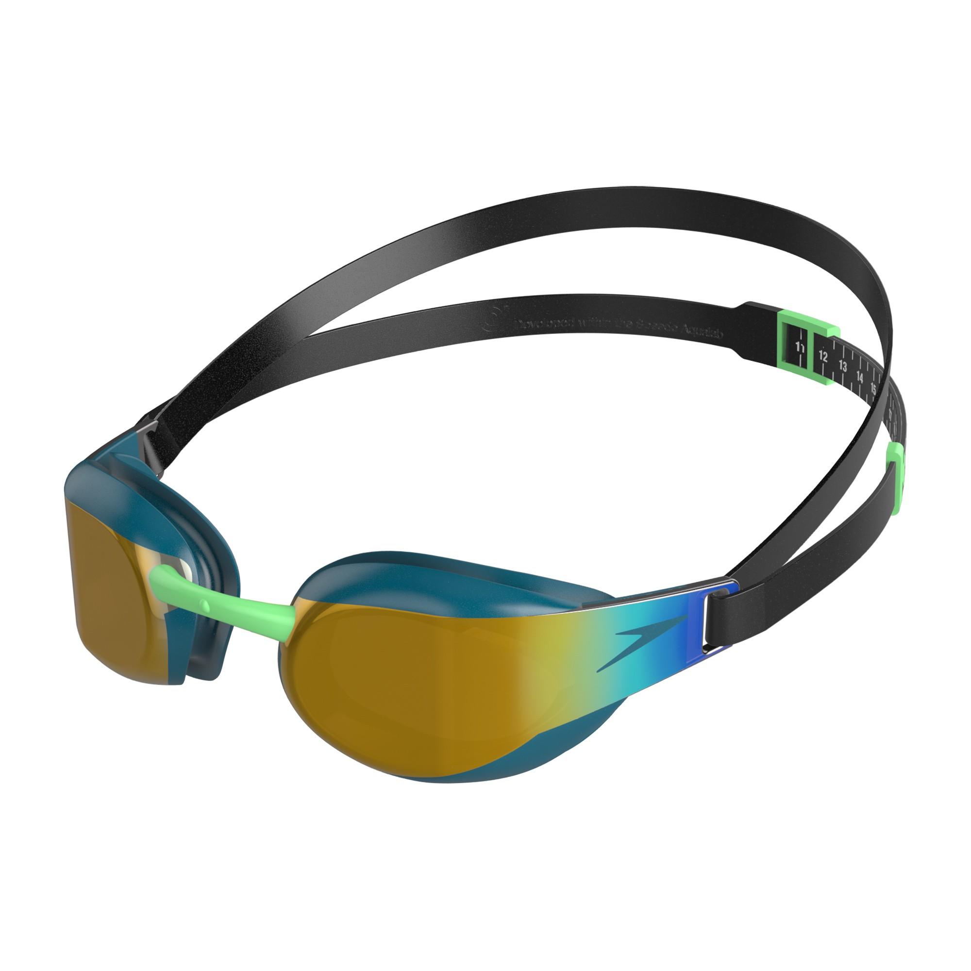 Speedo Zwembril Fastskin Eite Mirror green/gold