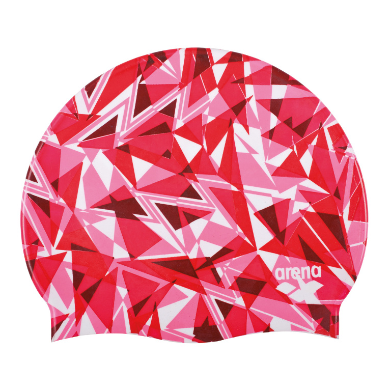 Arena badmuts Shattered Glass fluo-red