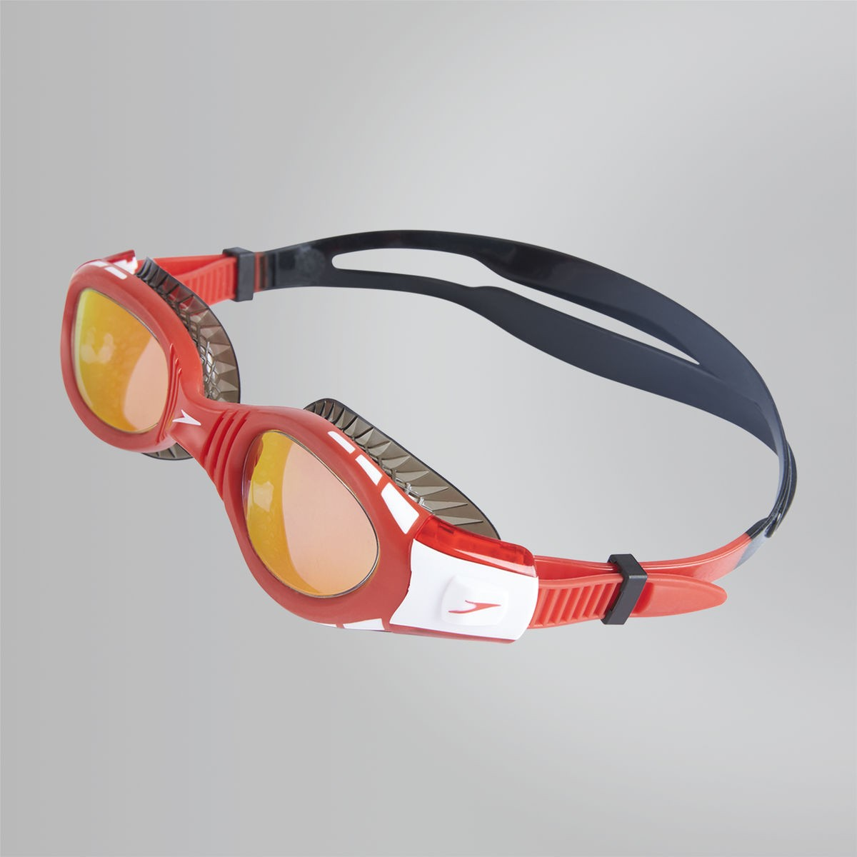 Speedo Zwembril Futura Biofuse Mirror JR red/black