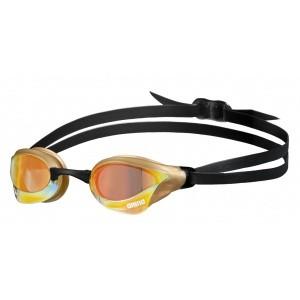 Arena zwembril Cobra Core Swipe mirror yellow-copper-gold