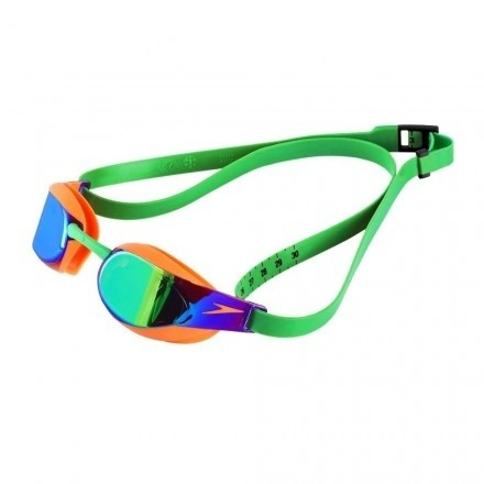 Speedo zwembril Fastskin Elite Mirror orange/green