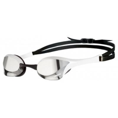 Foto van Arena zwembril Cobra Ultra Swipe Mirror zilver wit
