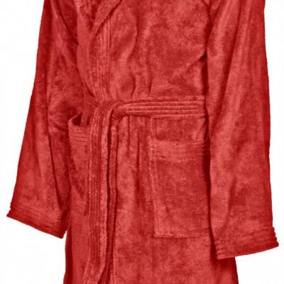 Foto van Arena badjas Core soft robe red-white