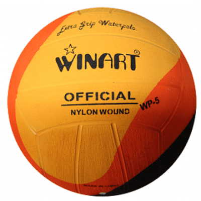 Foto van Winart waterpolobal Swirl No. 5 Orange/ Black/ Yellow