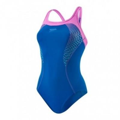 Foto van Speedo damesbadpak Pool Body Position Blauw/ Roze