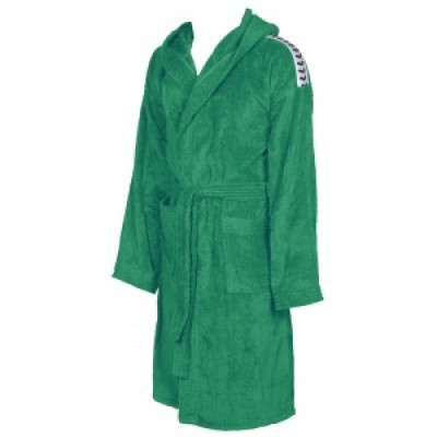 Foto van Arena badjas Core soft robe green-white