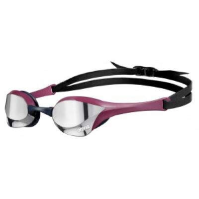 Foto van Arena zwembril Cobra Ultra Swipe Mirror zilver rood