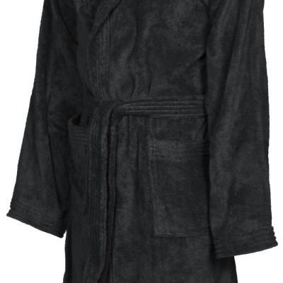 Foto van Arena badjas soft robe black-white