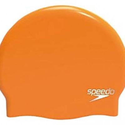 Foto van Speedo Plain Moulded silicone cap oranje